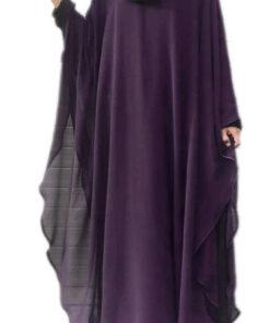 purple 2 in 1 kaaftaan abaya
