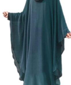 teal 2 in 1 kaaftaan abaya