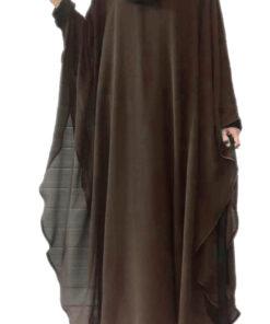 brown 2 in 1 kaaftaan abaya
