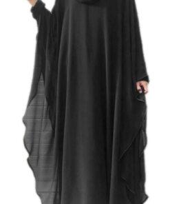 black 2 in 1 kaaftaan abaya